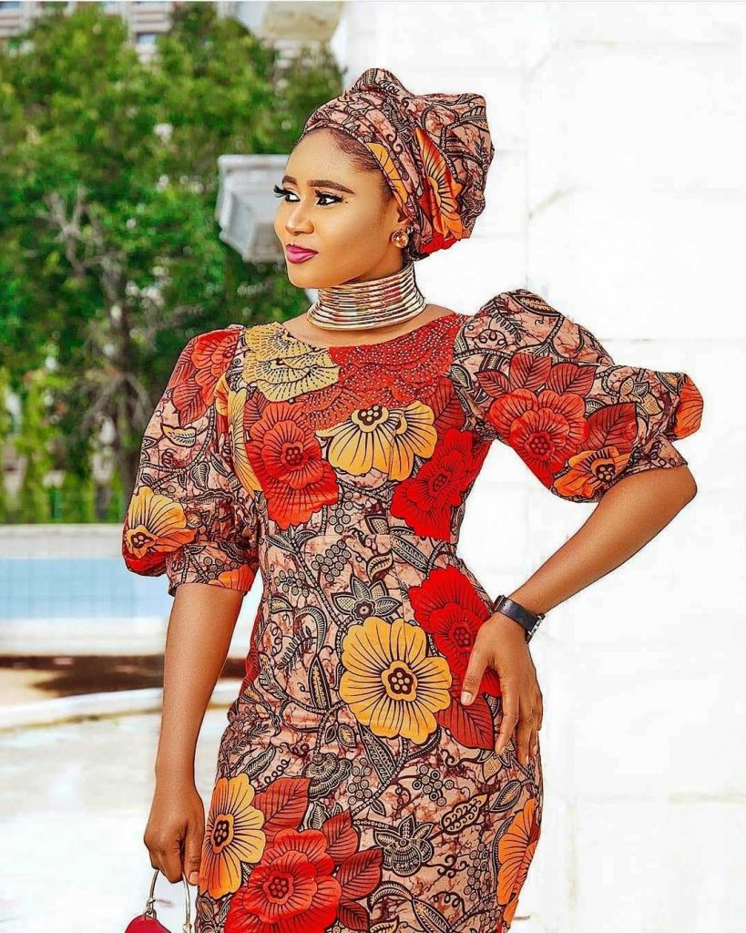 Ankara Short Straight Gown