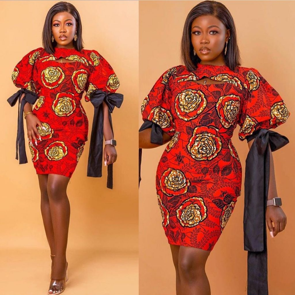 Latest Ankara Short Gown Styles 2020 for ladies