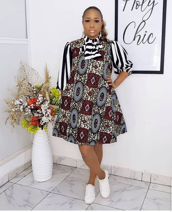 Pictures of simple ankara styles 2021: Lovely Dresses for Ladies