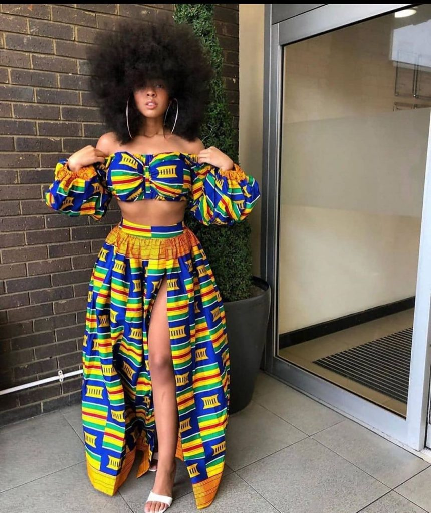 Latest plain and pattern ankara gowns