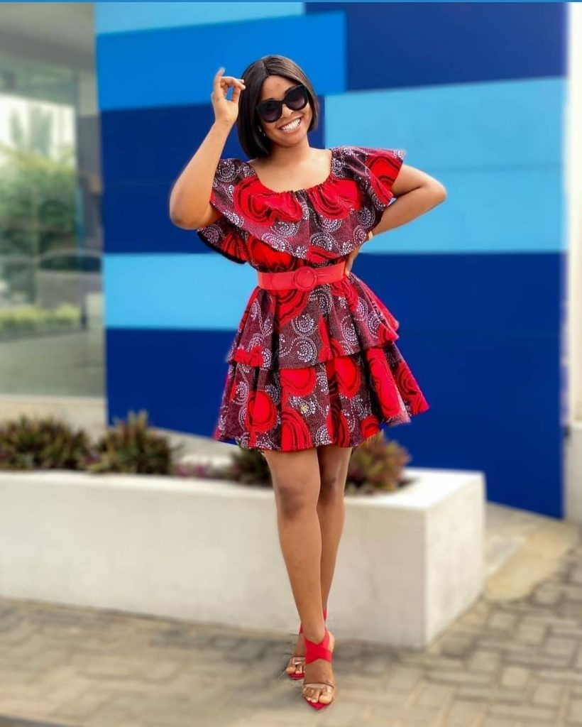 Latest Short Ankara Gown 2021 For Ladies